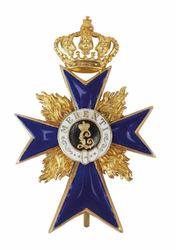 Bavaria: military merit order, officer's cross, with flames (from 1905). - photo 1
