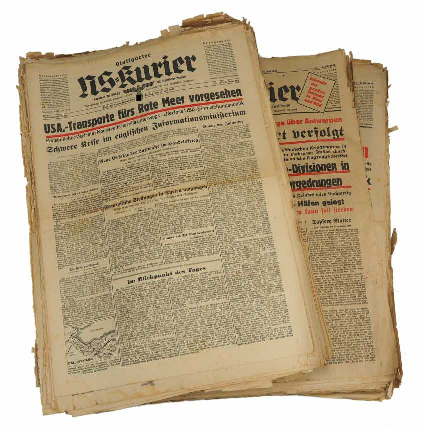 NS-Kurier Stuttgart - a collection of about 750 titles of the pages. - photo 1