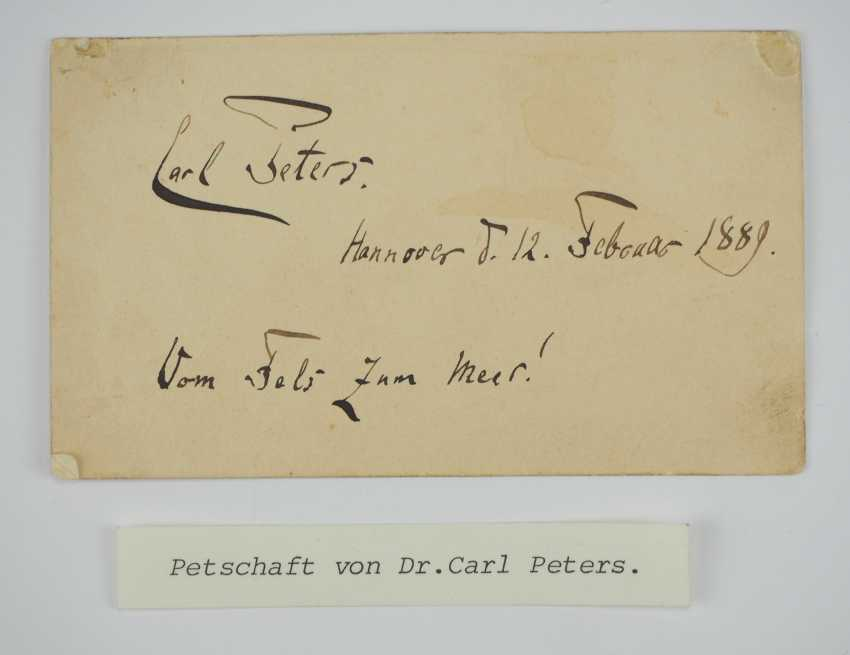 The signet-Dr. Carl Peters, Explorer of Africa and the founder of the colony of German East Africa. - photo 4