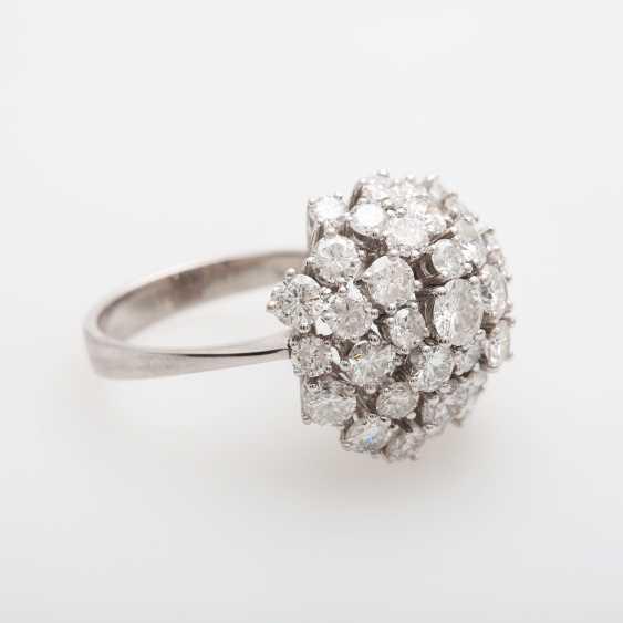 Cocktail ring set with numerous brilliant-cut diamonds - photo 2