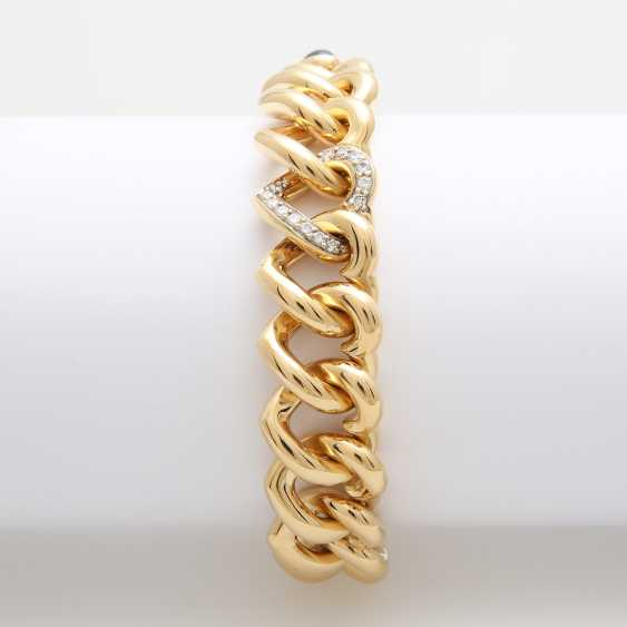 Solid-link bracelet, the links are in the shape of a heart, - photo 2