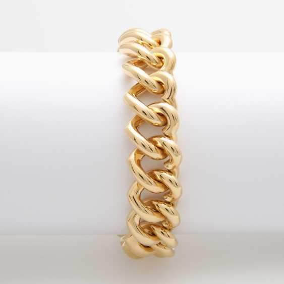 Solid-link bracelet, the links are in the shape of a heart, - photo 3