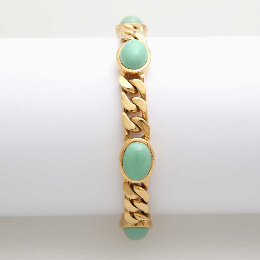 Tank strap m. oval turquoise cabochons occupied - photo 1