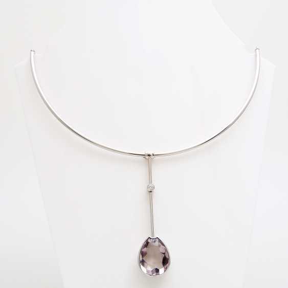 Choker with amethyst pendant - photo 1