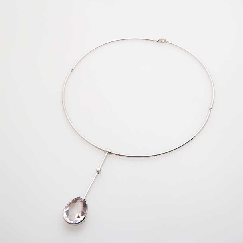Choker with amethyst pendant - photo 2