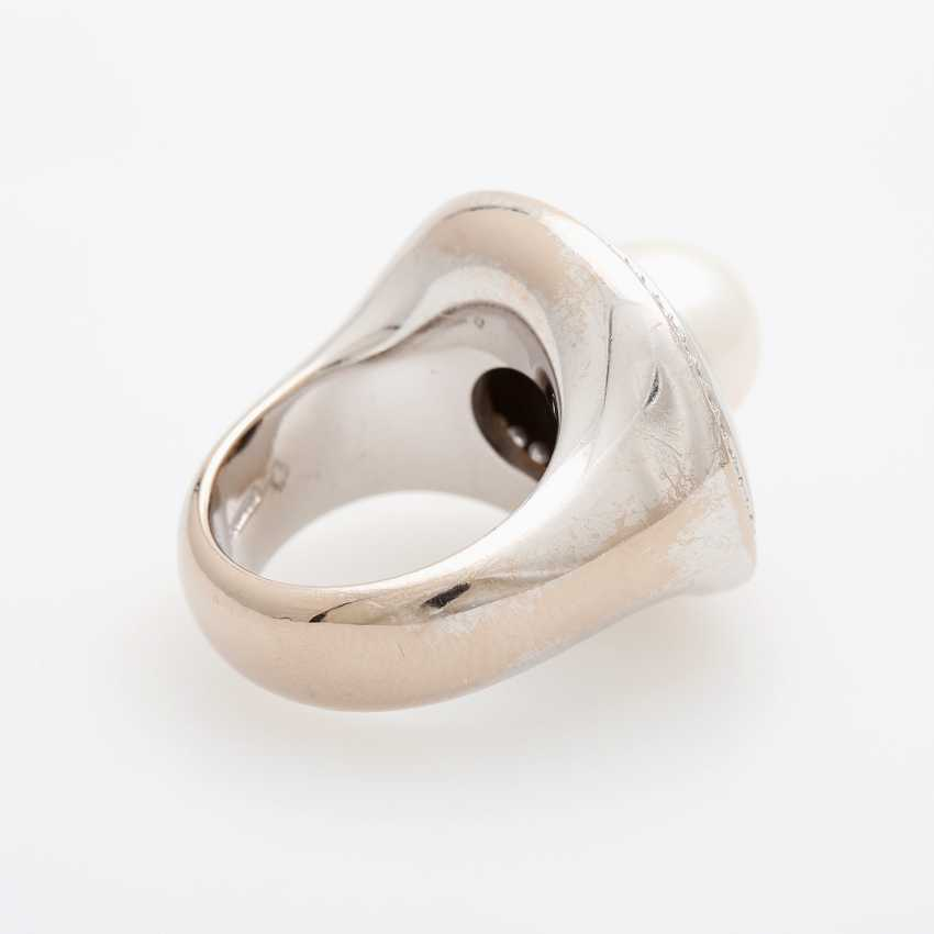 Ladies ring occupied m. a white cultured pearl - photo 3