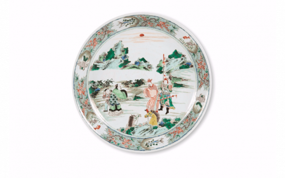 Great dish China - Nineteenth century Porcelain decorated in enamels of polychrome