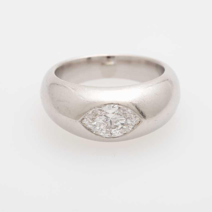 Bandring mit Diamant, - photo 1