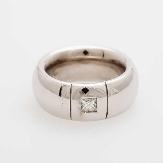 Ladies / men's ring m. occupied a diamond in Princesscut - photo 1
