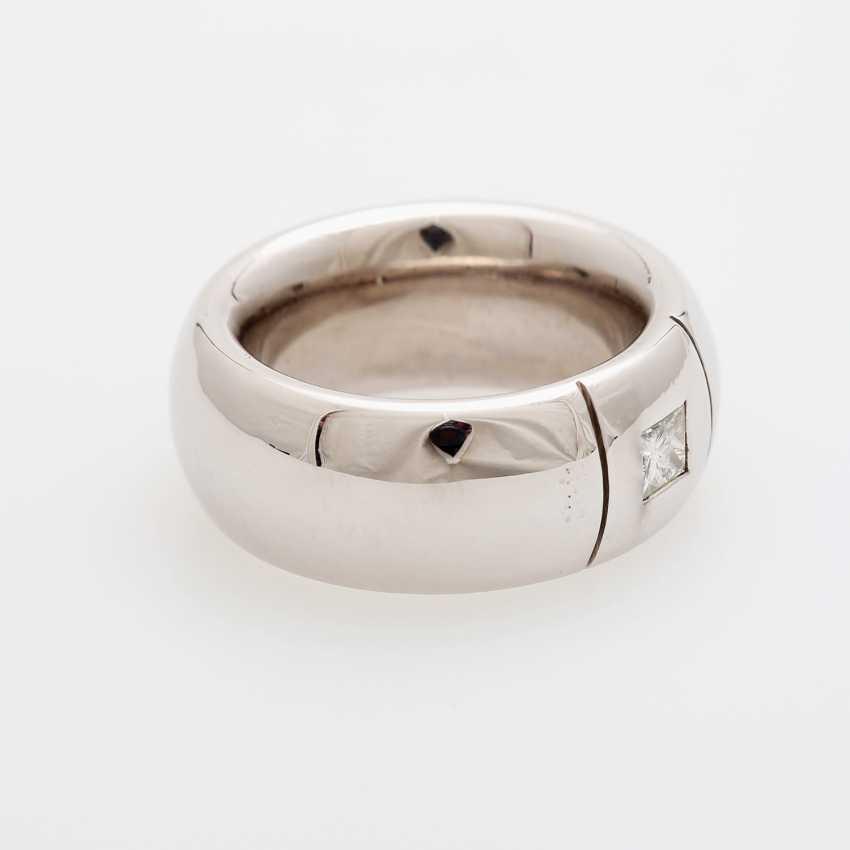 Ladies / men's ring m. occupied a diamond in Princesscut - photo 2