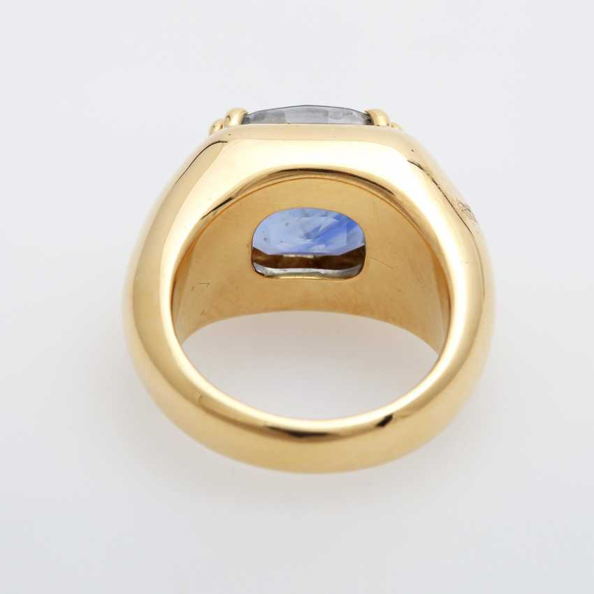 Ladies ring set with a ovalfac. Sapphire (approx. 12x10mm). - photo 4