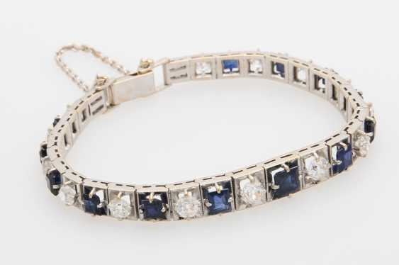 Bracelet studded with sapphires & diamond - photo 2
