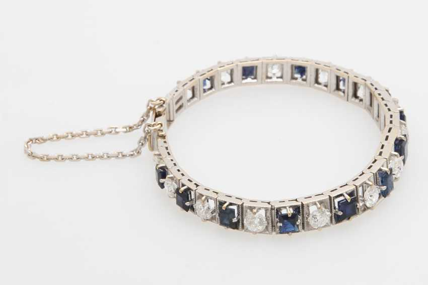 Bracelet studded with sapphires & diamond - photo 3