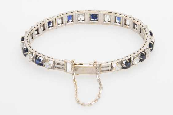 Bracelet studded with sapphires & diamond - photo 4