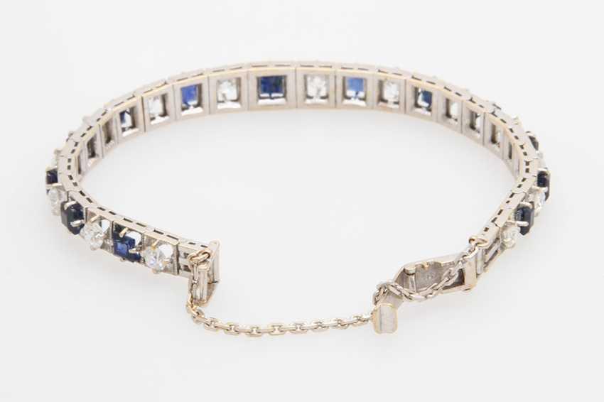 Bracelet studded with sapphires & diamond - photo 5