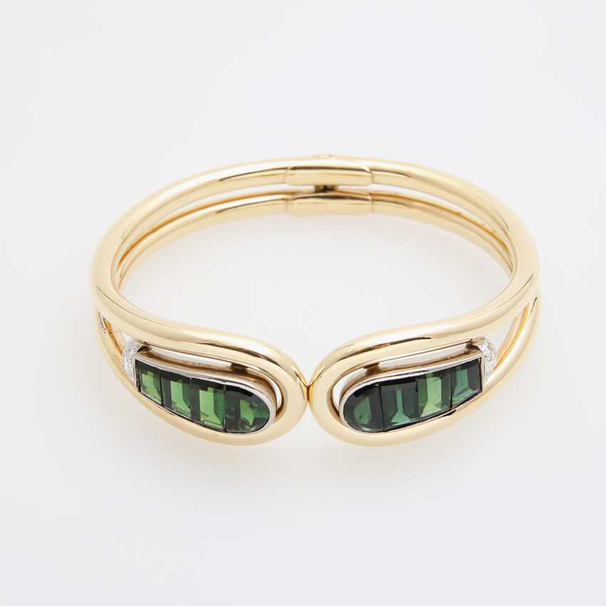 Cuff with tourmalines and diamonds - photo 1