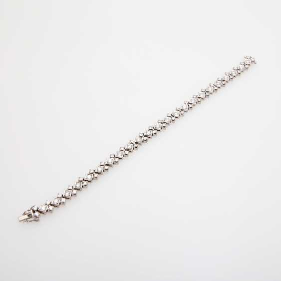 Bracelet with numerous diamonds, - photo 2