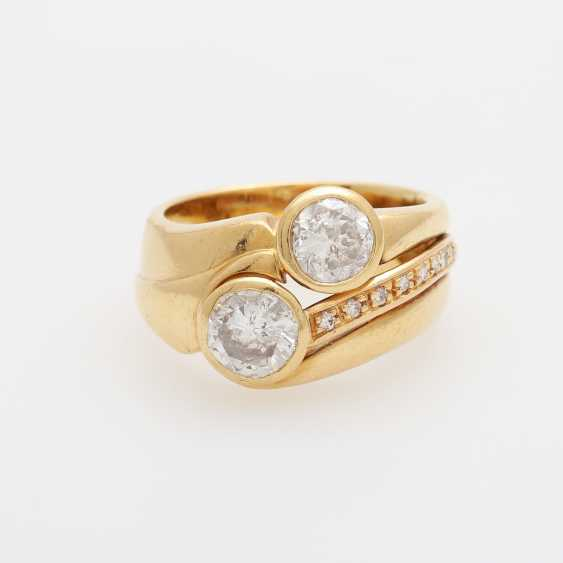 Ladies ring with 2 large diamonds, - photo 1