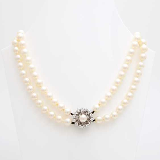 Double Row Pearl Necklace - photo 1