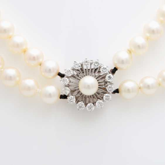 Double Row Pearl Necklace - photo 2