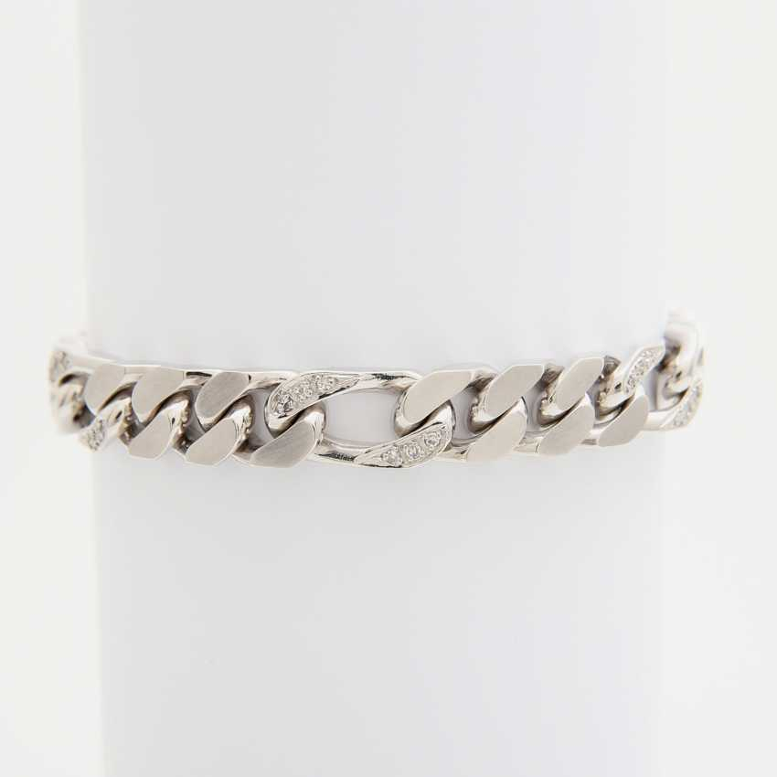 Bracelet partially studded with octagonal diamonds - photo 1