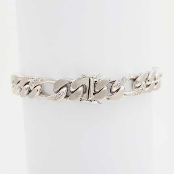 Bracelet partially studded with octagonal diamonds - photo 3