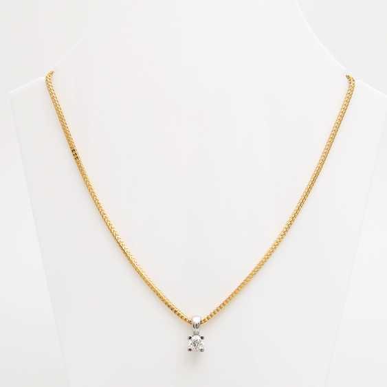 Pendant with chain, pendant set with a Diam.- Brilliant - photo 1