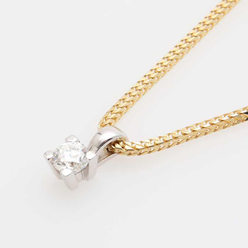 Pendant with chain, pendant set with a Diam.- Brilliant - photo 5