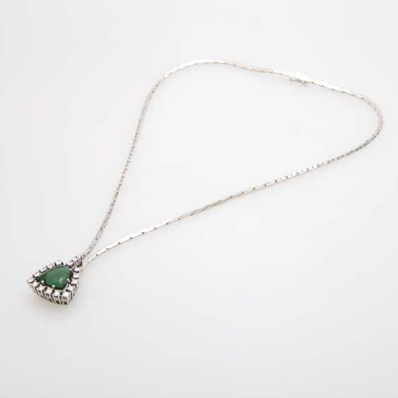 Necklace in the middle with a green tourmaline - photo 3