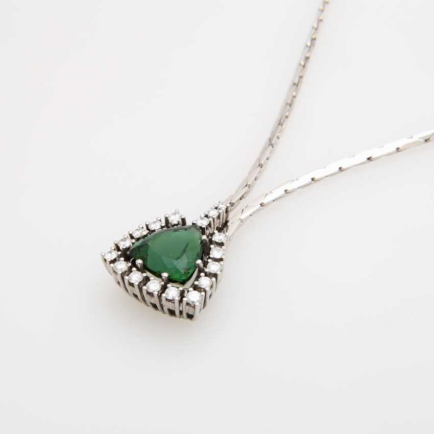 Necklace in the middle with a green tourmaline - photo 4