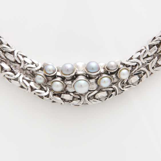 King chain occupied m. cultured pearls in grey and White - photo 2