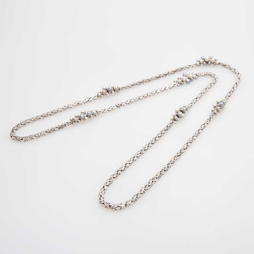 King chain occupied m. cultured pearls in grey and White - photo 3