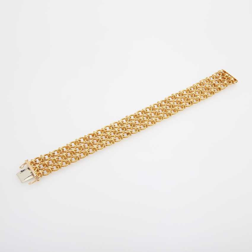 Bracelet composed of textured links - photo 3