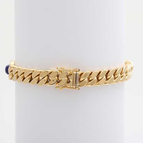Flat curb bracelet m. lapis lazuli & diamonds - photo 3
