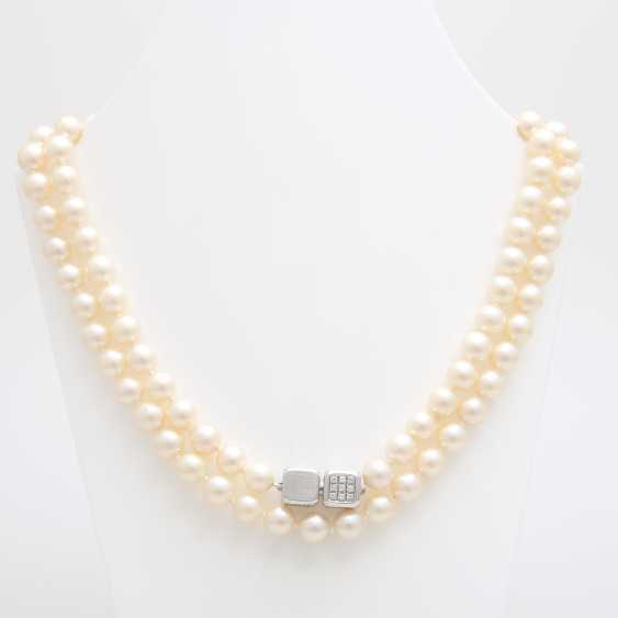 Necklace made of cream-colored cultured pearls - photo 1
