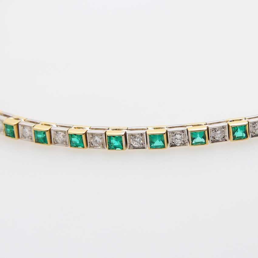Necklace im Mittelteil mr. Smaragdcarrés u. Brillanten - photo 2