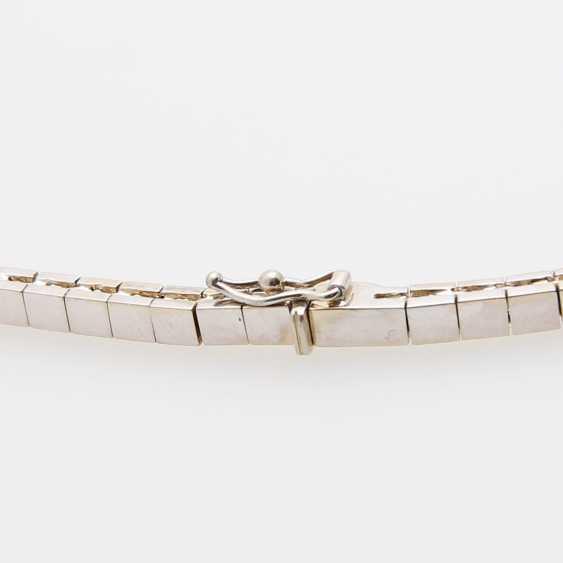 Necklace im Mittelteil mr. Smaragdcarrés u. Brillanten - photo 3