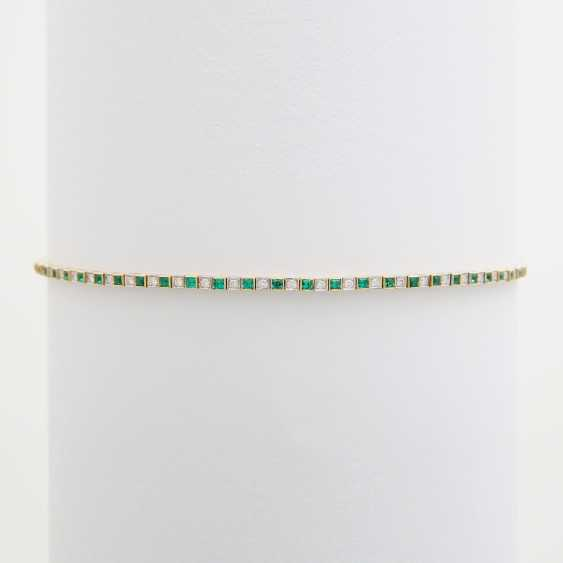 Necklace im Mittelteil mr. Smaragdcarrés u. Brillanten - photo 4