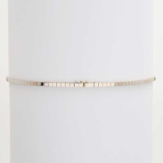 Necklace im Mittelteil mr. Smaragdcarrés u. Brillanten - photo 5