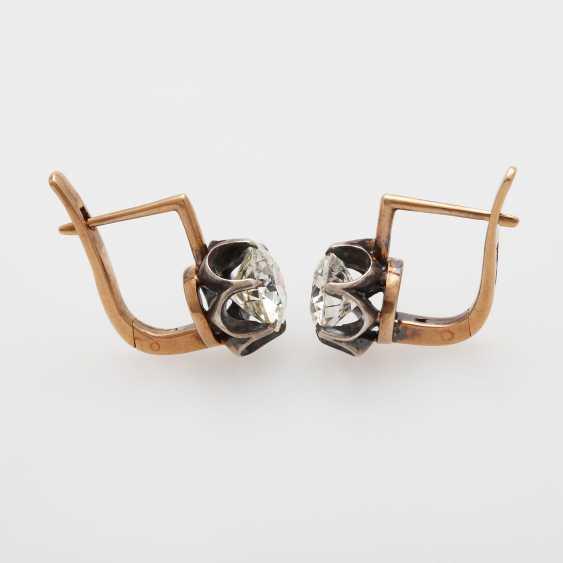 Earrings / stud earrings m. 2 old European cut diamonds - photo 5