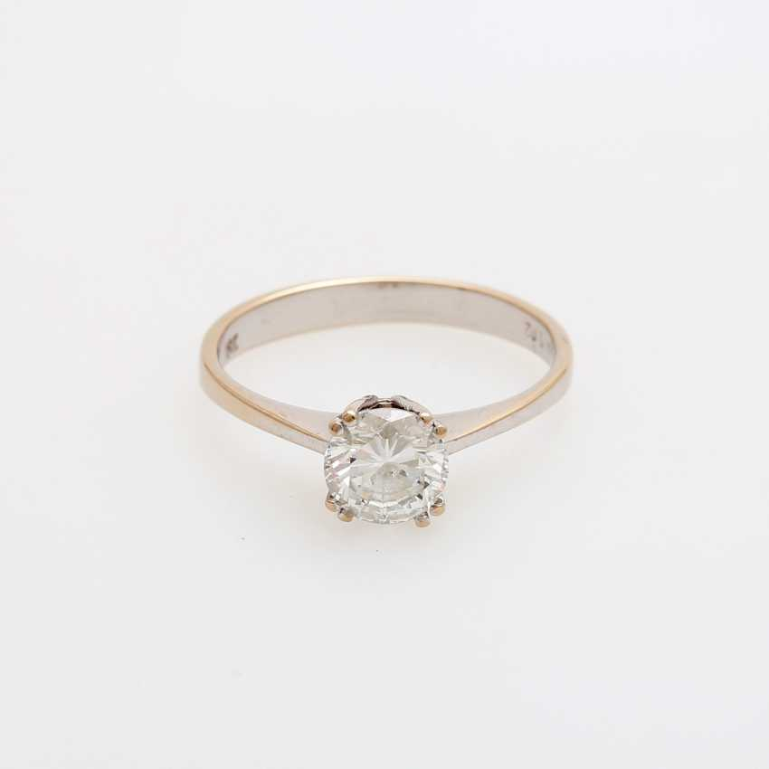 Solitaire ring m. brilliant approx 1,02 ct - photo 1