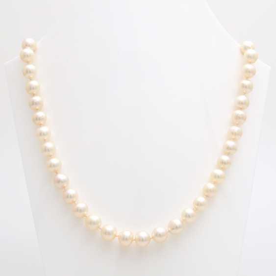 Necklace, cream color. Cultured pearls - photo 1