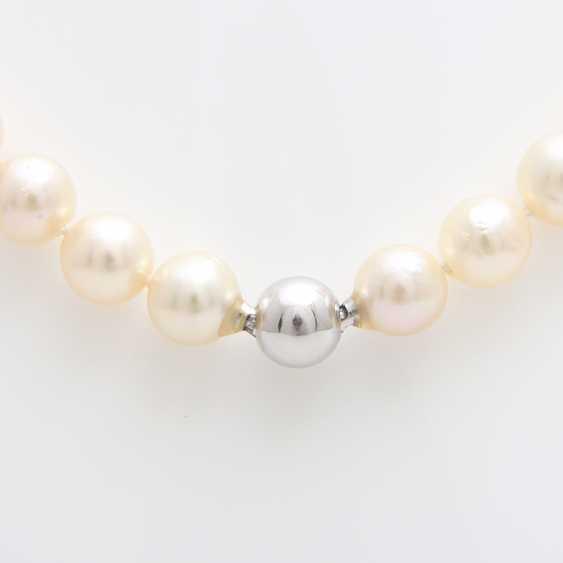 Necklace, cream color. Cultured pearls - photo 3