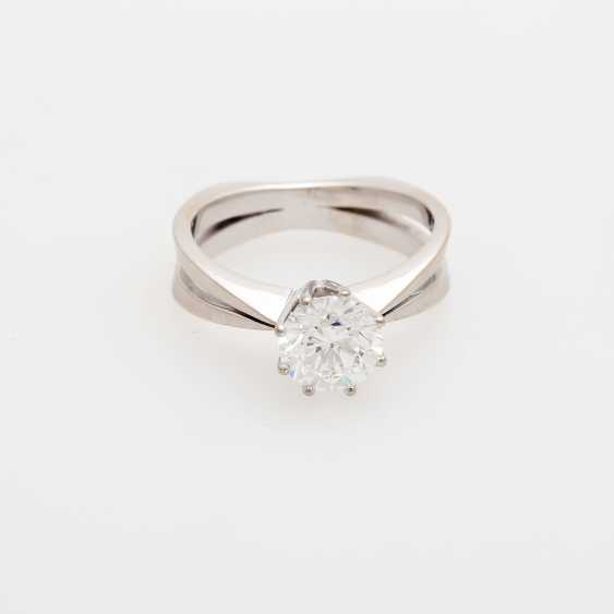 Solitaire ring m. brilliant, approximately 1.2 ct - photo 1
