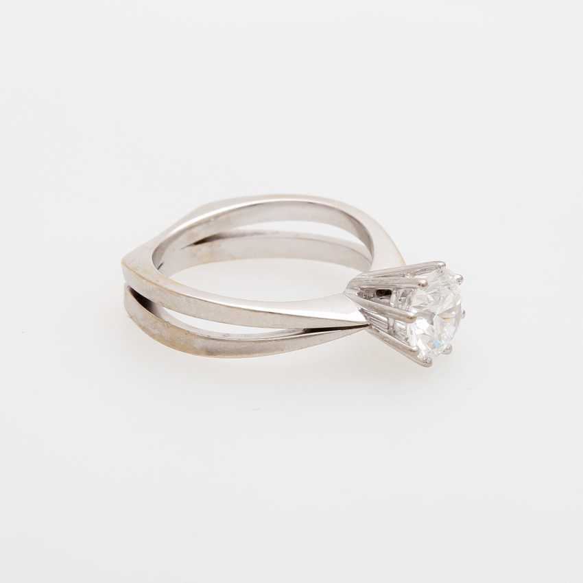 Solitaire ring m. brilliant, approximately 1.2 ct - photo 2