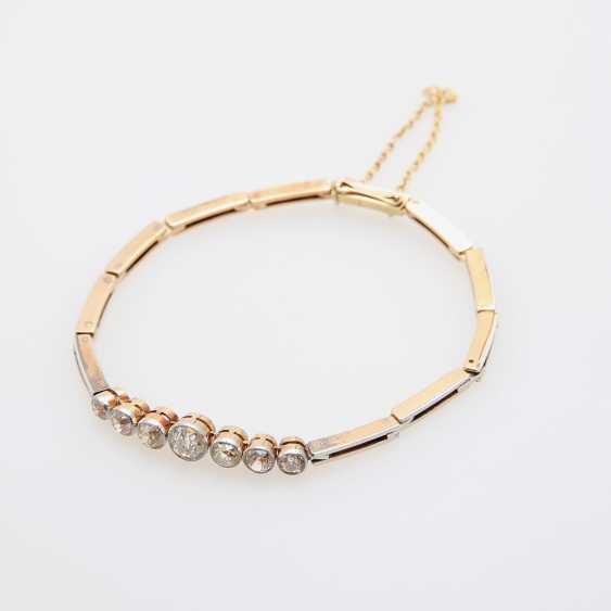 ART DECO bracelet set with 7 old European cut diamonds - photo 1