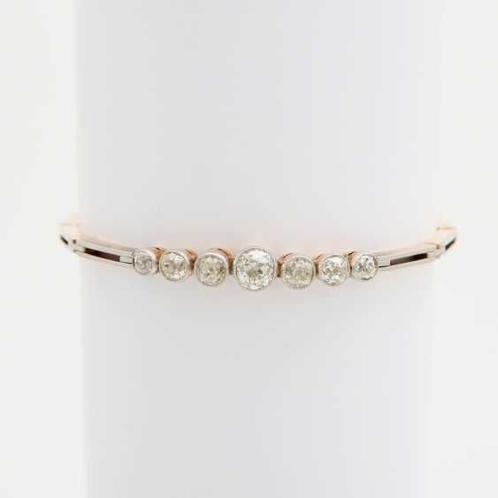 ART DECO bracelet set with 7 old European cut diamonds - photo 2