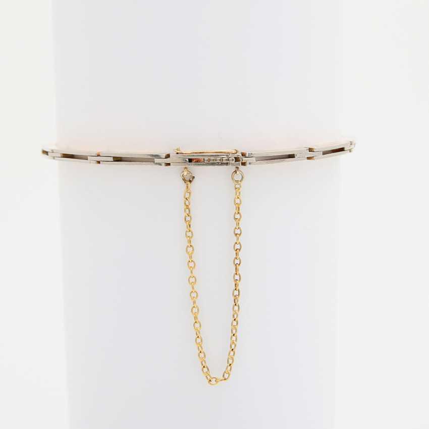 ART DECO bracelet set with 7 old European cut diamonds - photo 3