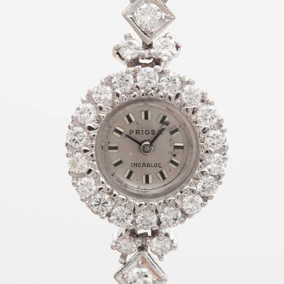 Jewellery watch is rich with diamonds, - photo 1