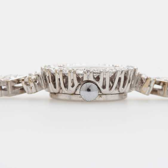 Jewellery watch is rich with diamonds, - photo 3
